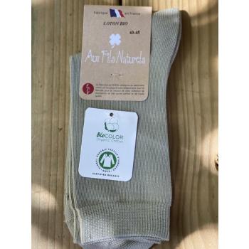 Lot de 2 paires de chaussettes coton bio vertes