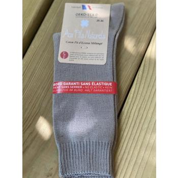 Lot de 2 paires de chaussettes fil d'écosse sans élastique (taupes)