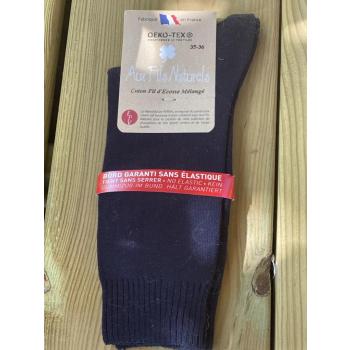 Lot de 2 paires de chaussettes fil d'écosse sans élastique (marine)