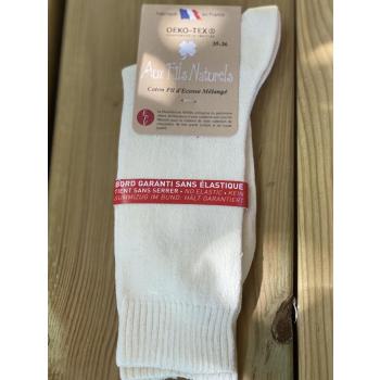 Lot de 2 paires de chaussettes fil d'écosse sans élastique (écrue)