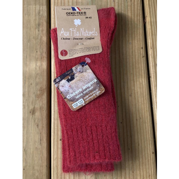 Chaussette mohair (rouge)