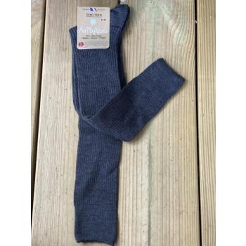 Lot de 2 paires de mi-bas 100% laine mérinos (gris)
