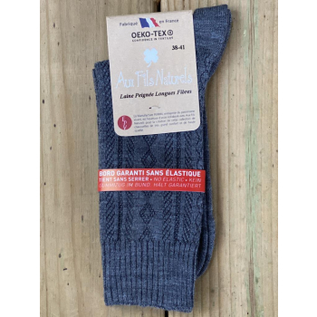 Lot de 2 paires de chaussette femme sans élastique (gris)