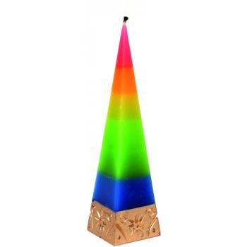 """Bougie pyramide """"arc en ciel"""""""