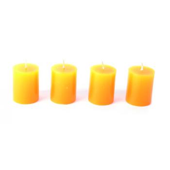 Set de 4 bougies piliers