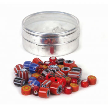 Kit de perles, couleurs rouges