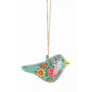 Oiseau à suspendre turquoise