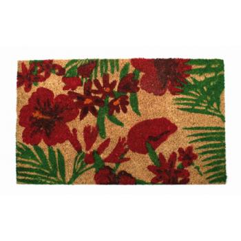 """Paillasson en fibres de coco """"hibiscus"""""""