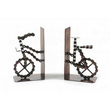 Serre-livres en chaîne de vélo recyclé
