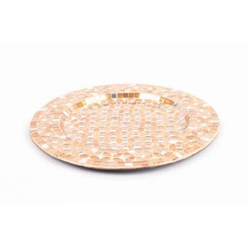 Assiette dorée 30cm