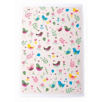 """Carte de vœux """"petits oiseaux colorés"""""""