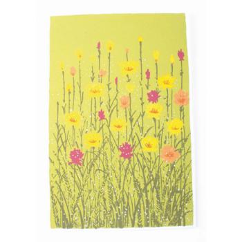 """Carte de vœux """"prairie fleurie"""""""