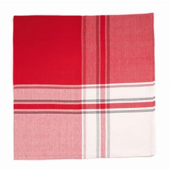 Nappe jeté de lit rouge/blanc/noir