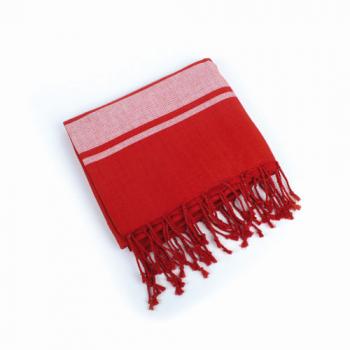 Serviette hammam rouge