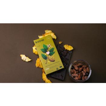 Chocolat noir Kuyay 70% à l'ananas - pur origine Pérou