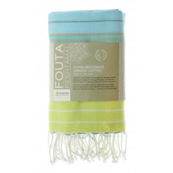 Serviette coton bio, fouta, serviette
