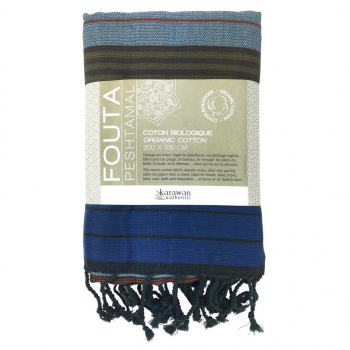 Fouta coton bio, Céleste Collection EBENE