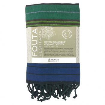 Fouta coton bio, Forest Collection EBENE