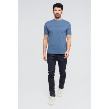 """Le""""KIBO"""": Tee-shirt 100% Coton BIO manches courtes Bleu"""