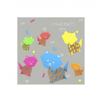 Kit créatif Chats en carton, à créer et à suspendre