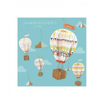 Kit créatif Montgolfières en carton