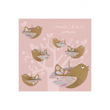 Kit créatif oiseaux poétiques en carton