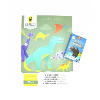 Kit Dinosaures : 1 Kit créatif Dinosaures + 1 Défis nature - Dinosaures 1