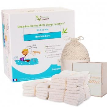 15 lingettes réutilisables en éponge de coton bio - Kit eco net - Les Tendances d'Emma