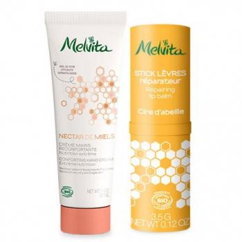kit-nectar-de-miels-creme-mains-stick-levres-melvita