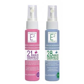 Kit bien-être : Spray Sommeil Réparateur aux 21 huiles essentielles + Spray Respiratoire aux 28 huiles essentielles VEGAN