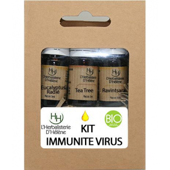 Kit Huiles Essentielles Immunité virus, 3 flacons 5ml,