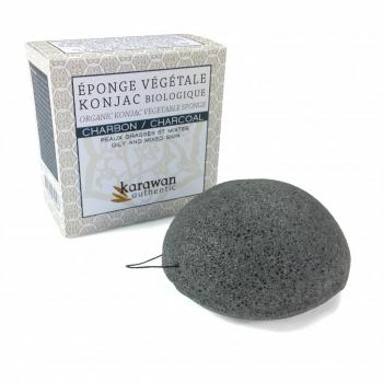 KONJAC - éponge konjac au charbon de bambou