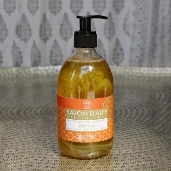 Savon liquide bio Alep parfumé ISKENDAR - mains, visage et corps