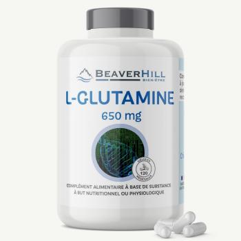 L-Glutamine 650 mg - Paroi et Muqueuse Intestinale, Vitalité