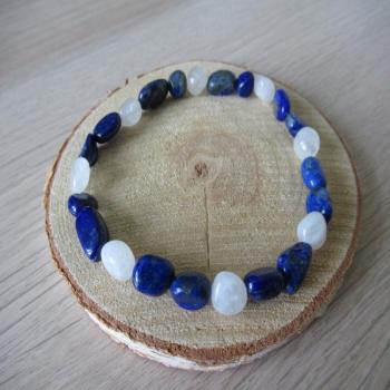 Bracelet en lapis lazuli et pierre de lune