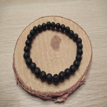 Bracelet en pierre de lave 6mm