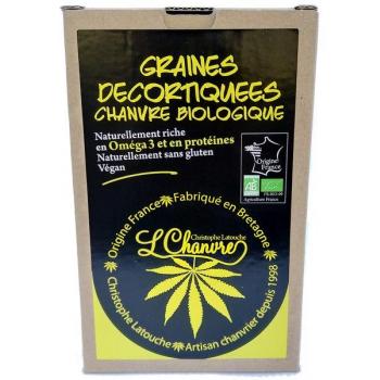 Graines décortiquées de chanvre Bio, 250 g