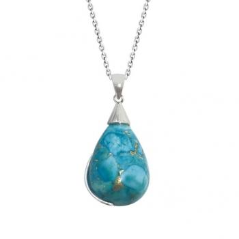 Collier en Argent 925 Turquoise