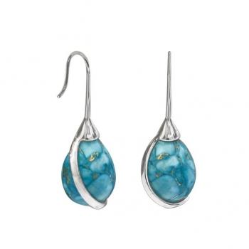 Boucles d'oreilles Argent 925 turquoise