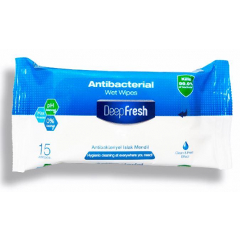 Lingettes humides antibacteriennes - 15 lingettes - Atsante