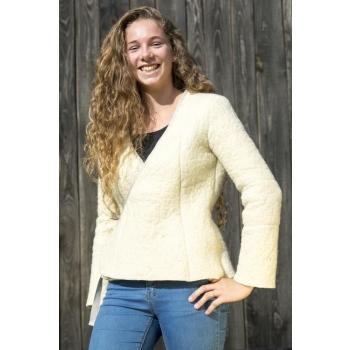 Cache coeur en laine feutrée beige pour femme **Loo** Taille 40