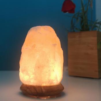 Lampe de Sel d'Himalaya Blanche Usb Rock