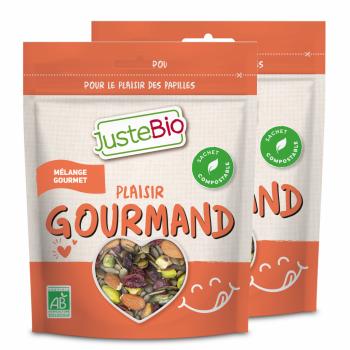 JUSTEBIO - Mélange Gourmet - Lot de 2 sachets de 300g