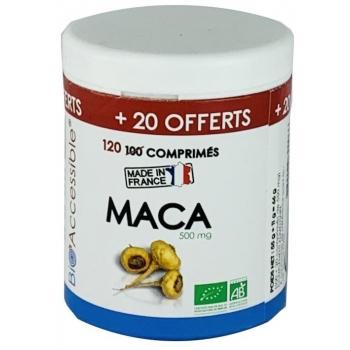 Maca biologique 500 mg 100 comprimés