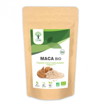 Maca en Poudre Bio - Complément Alimentaire - Superaliment - Energie - Fertilité - Aphrodisiaque - BIOPTIMAL - 100g