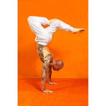"""Pantalon de yoga pour homme """"Mahan"""" de """"Breathe of Fire"""" blanc"""
