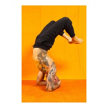 """Pantalon de yoga pour homme """"Mahan"""" de """"Breathe of Fire"""" noir"""