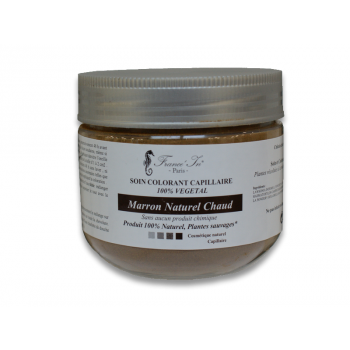 COLORATION   Soin Colorant Marron Naturel Chaud  100 % Naturel  140 G