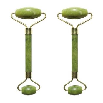 Set 2 Masseurs Visage en Pierre de Jade - Vert