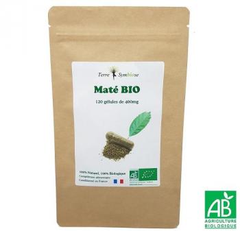 Maté BIO - 120 gélules de 400 mg Biologique - Circulatoire Drainant Perte poids